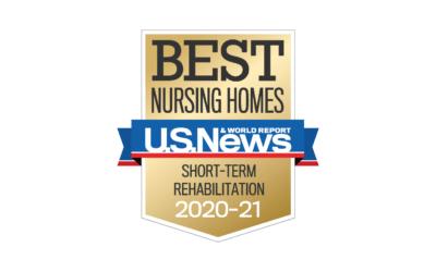 "U.S. News & World Report Names Hillcrest Firethorn Among ""Best Nursing Homes"" for 2020-21"