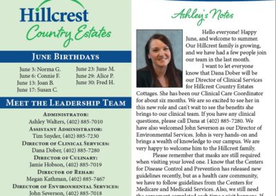 The Cottages Newsletter