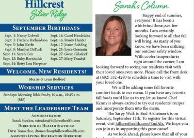 Hillcrest Silver Ridge Newsletters & Calendars