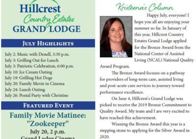 Grand Lodge Newsletters & Calendars